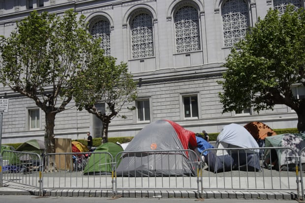 San Francisco's shelter-in-place order left many of its homeless people with no option but to sleep on the streets.